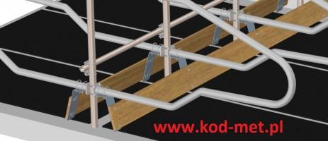 zamontowane mocowanie deski kolanowej z www